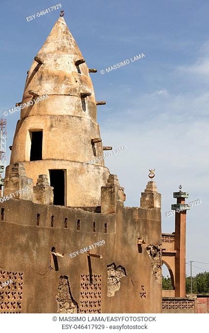 Mosque in a village in Burkina Faso