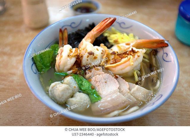 Henghua noodle soup, Kuching, Sarawak, Malaysia