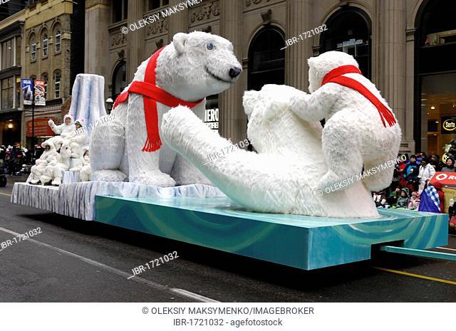 Polar bears decoration at Santa Claus Parade in Toronto, Ontario, Canada