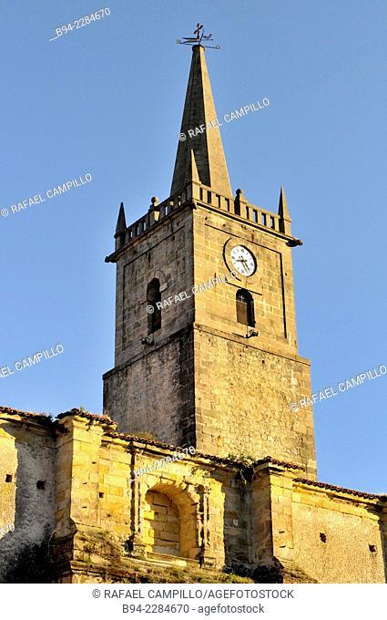 San Cristobal church in Comillas. Cantabria. Spain