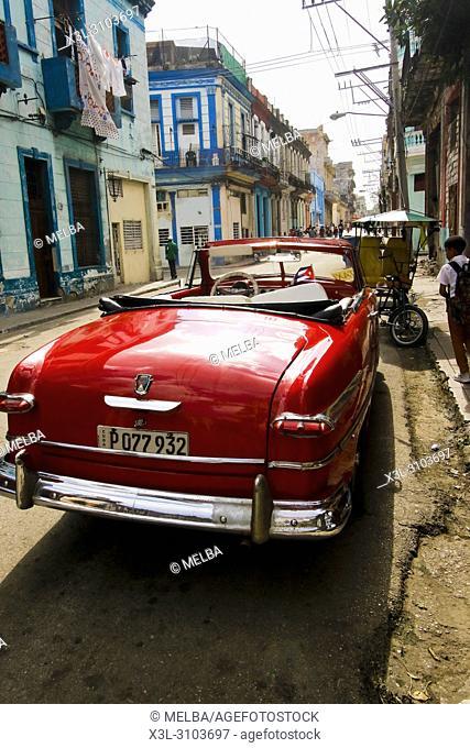 Street view of La Havana. Cuba