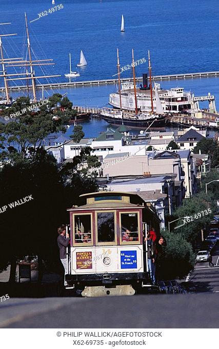 Cable car. Hyde Street, San Francisco, California, USA