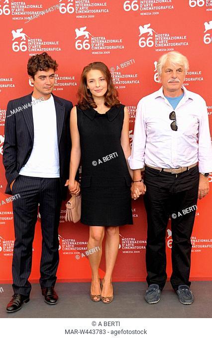riccardo scamarcio, jasmine trinca, michele placido, venice 2009, 66th international venice film festival