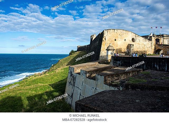 Usa, Caribbean, Puerto Rico, San Juan, Old Town, Fuerte San Cristobal