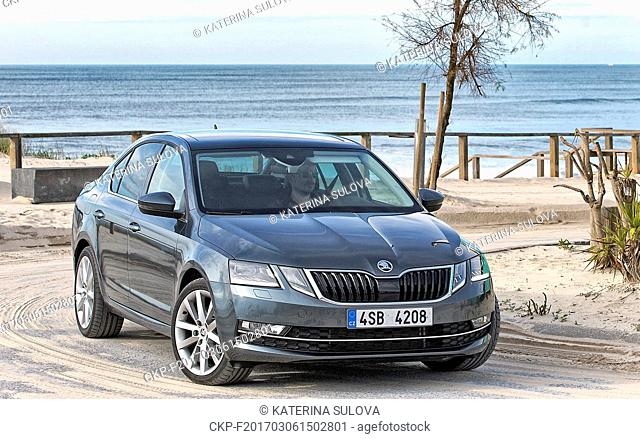 Skoda Auto presents its modernised model SKODA OCTAVIA III, facelift 2017 in Praia de Mira, Portugal, February 11, 2017. (CTK Photo/Katerina Sulova)