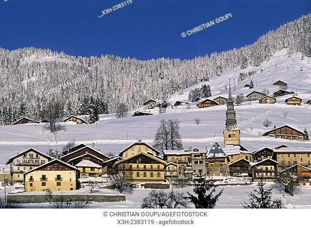 village of Hauteluce, Savoie department, Rhone-Alpes region, France, Europe