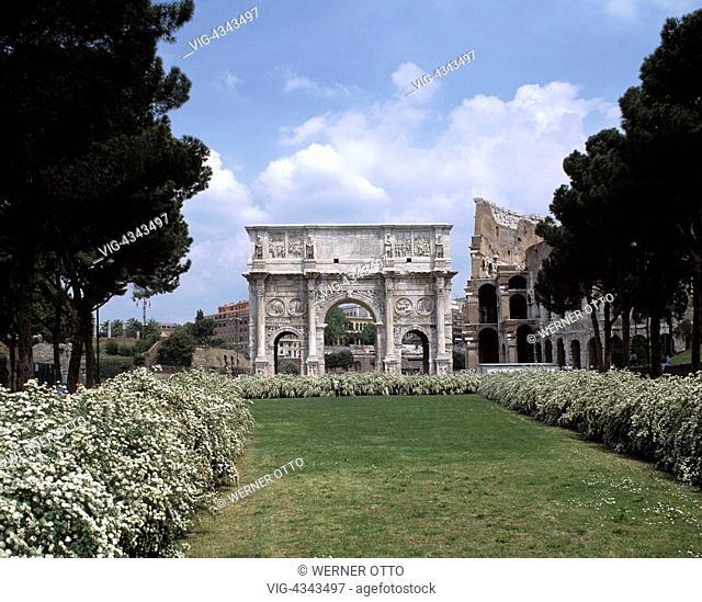 Italien, I-Rom, Konstantin-Triumphbogen, Triumphbogen, Konstantin der Grosse, Italy, I-Rome, Arco di Constantino, triumphal arch, Constantine the Great, UNESCO