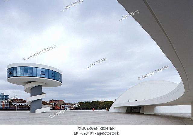 Centro Niemeyer, Centro Cultural Internacional Oscar Niemeyer, Oscar Niemeyer International Cultural Centre, Architekt Oskar Niemeyer, Aviles