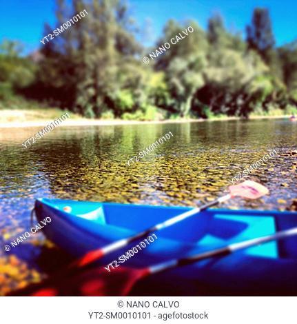 Kayaking in Sella River, Asturias