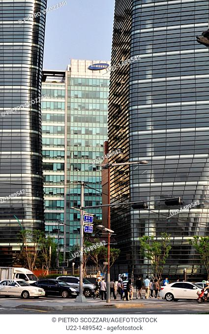 Seoul (South Korea): skyscrapers in the Insa-dong area