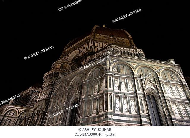 The Duomo at night, Florence, Italy