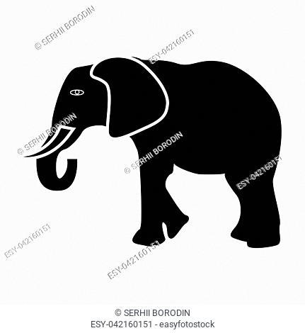 Elephant it is black color icon