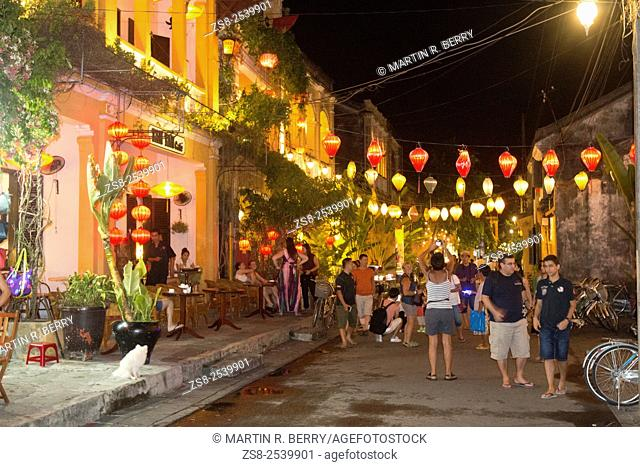 Hoi An old town lit up in the evening,Vietnam