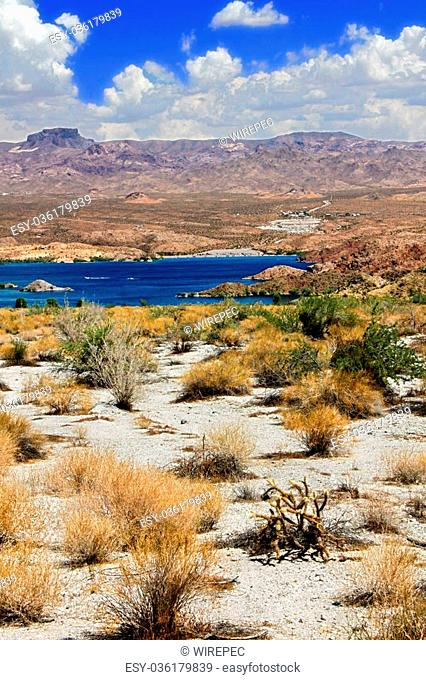 Lake Mohave is a reservoir on the Colorado River in the desert of the southwestern United States