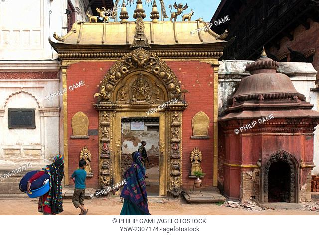 Golden Gate (Sun Dhoka) at Durbar Square, Bhaktapur, Kathmandu Valley