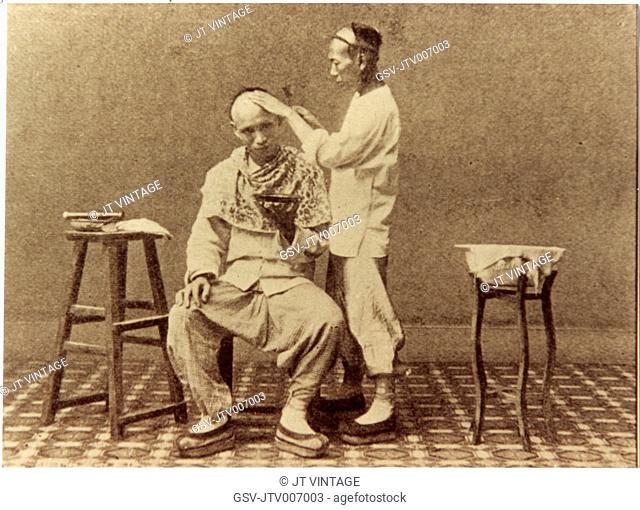Barber, China, circa 1900's