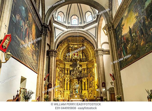 Basilica Altar Church San Francisco Monastery Complex Mexico City Mexico