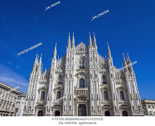 Milan Cathedral, Duomo di Santa Maria Nascente, Milan, Lombardy, Italy, Europe