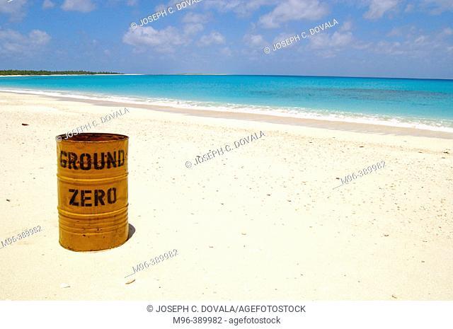 Ground Zero trash can. Bikini Atoll