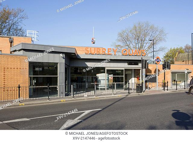 Surrey Quays Station, London Overground Railway, London
