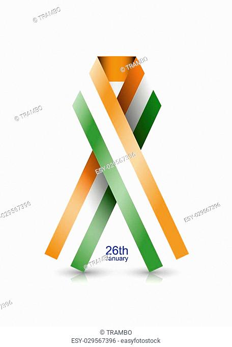 Vector modern Indian republic day background. Eps10