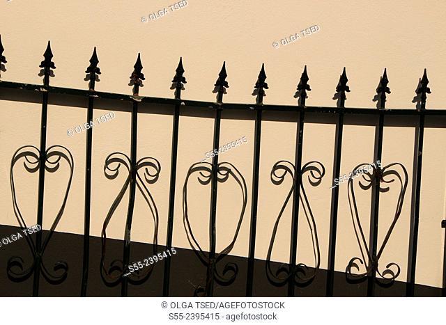 Iron gate detail. Nordeste, Sao Miguel island, Azores, Portugal