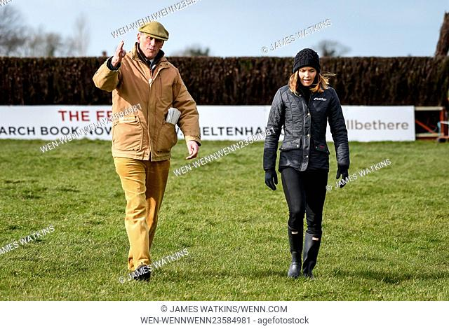 Victoria Pendleton rides Pacha Du Polder, trained by Paul Nicholls, in the Betfair Switching Saddles Hunters' Steeple Chase at Wincanton