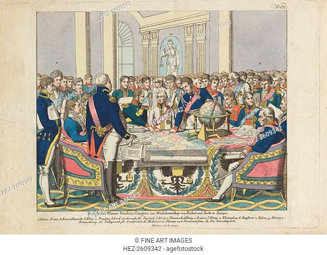 The Congress of Vienna. Artist: Campe, August Friedrich Andreas (1777-1846)
