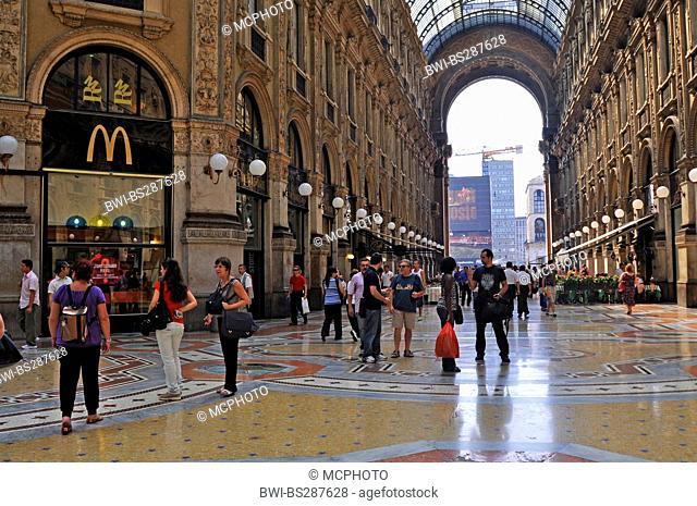Galleria Vittorio Emanuele II, Italy, Milan