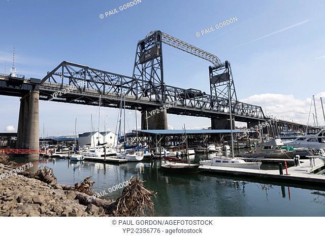 Murray Morgan Bridge - New Tacoma, Tacoma, Pierce County, Washington, USA. The bridge connects downtown with the tideflats