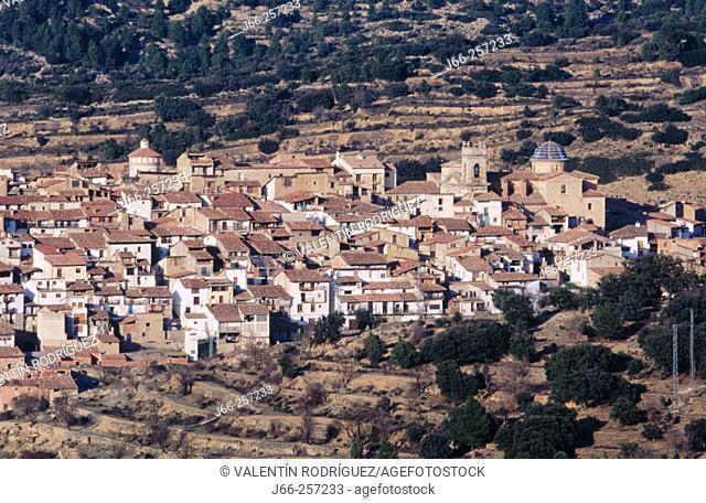 View of the town of Zorita del Maestrazgo in Castellon province. Valencia. Spain