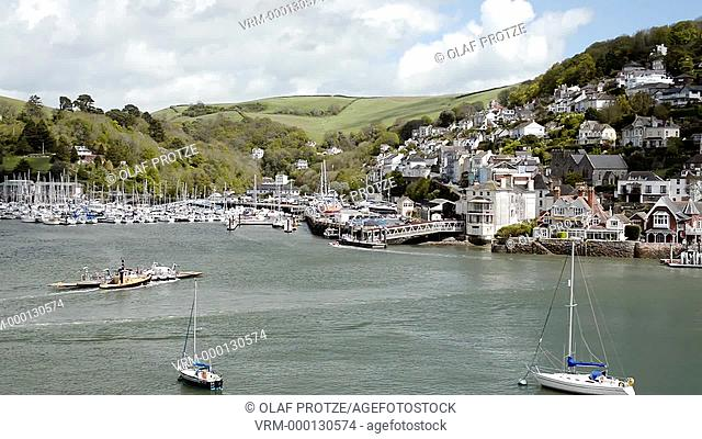 View at Kingswear at the River Dart seen from Dartmouth, Devon, England, UK