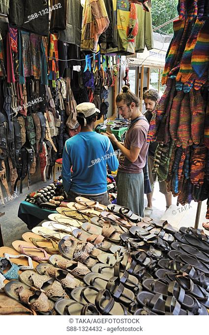 Shop at Old Manali. Manali, Himachal Pradesh, India