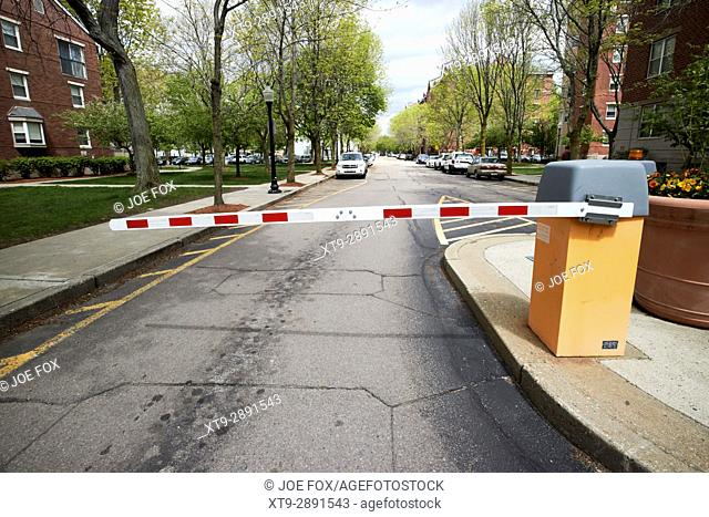 security access barriers residents only housing complex Boston USA