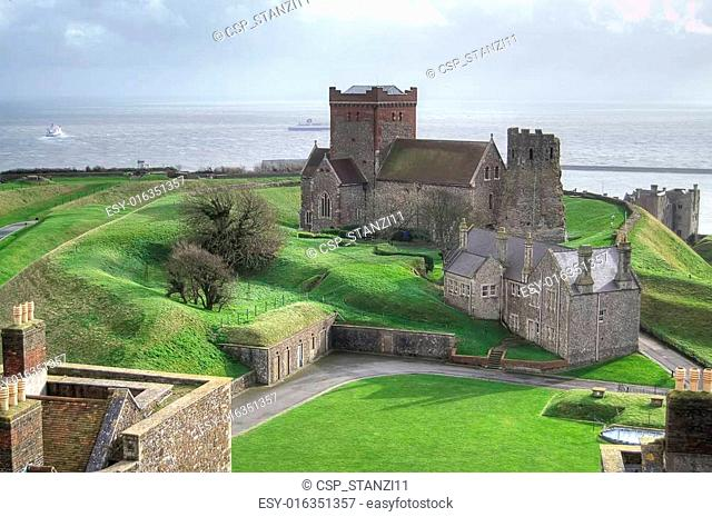 Aerial view from Dover castle