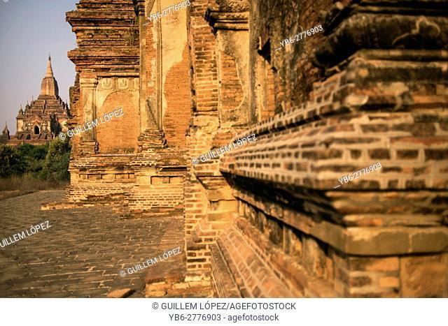 View of the Sulamani temple from Tha Beik Hmauk Gu Hpaya, Bagan, Myanmar