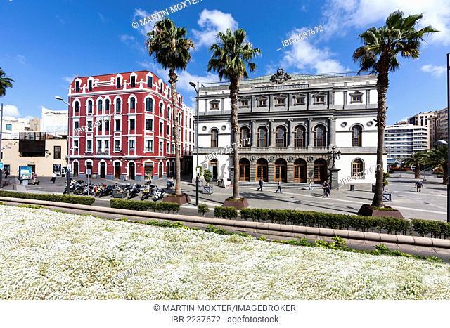 Perez Galdos Theatre, Las Palmas de Gran Canaria, Gran Canaria, Canary Islands, Spain, Europe, PublicGround