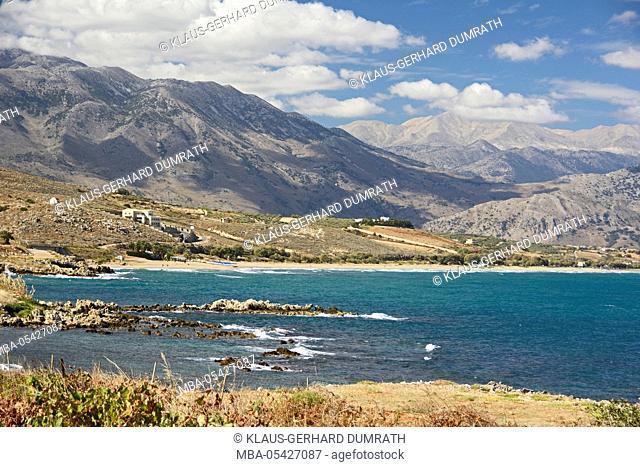 Crete, coastal landscape near Georgioupolis