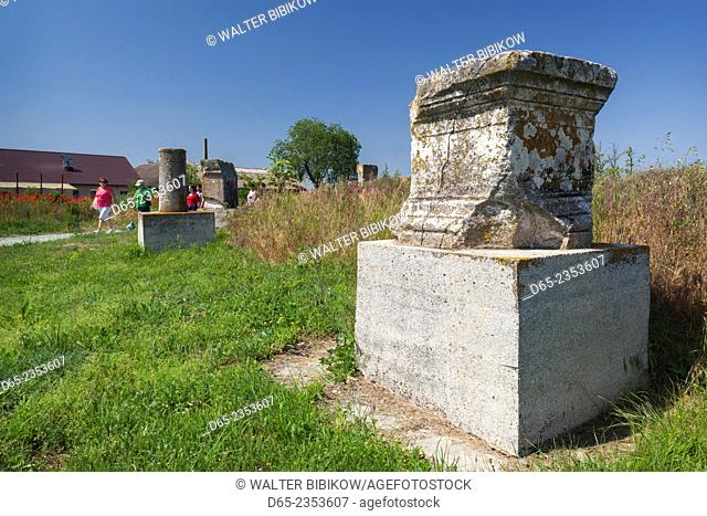 Romania, Black Sea Coast, Histria, ruins of oldest Romanian town built by Greek Traders in 657 BC