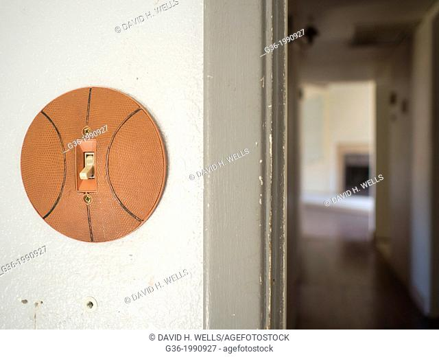 Interior of a house with light switch and corridor inside a foreclosed house in Phoenix, Arizona, United States