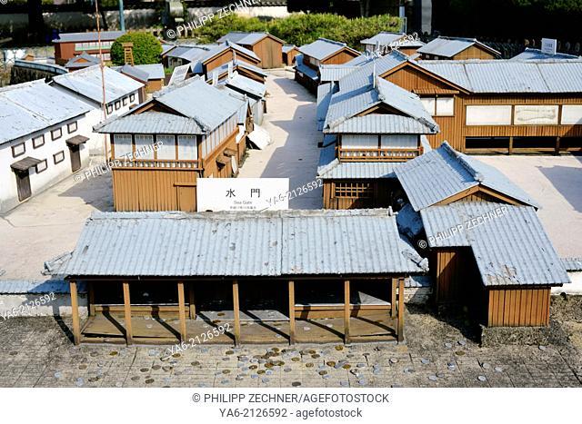 Model of historic Dejima Island, Nagasaki