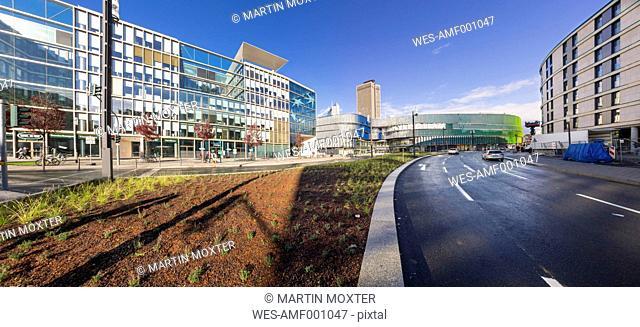 Germany, Hesse, Frankfurt, European Quarter, Modern office buildings