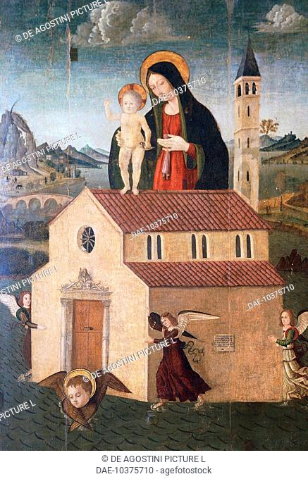 Our Lady of Loreto, 1507, painting.  Syracuse, Galleria Regionale Di Palazzo Bellomo (Picture Gallery)