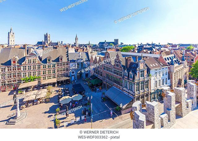 Belgium, Ghent, old town, Sint-Veerleplein square