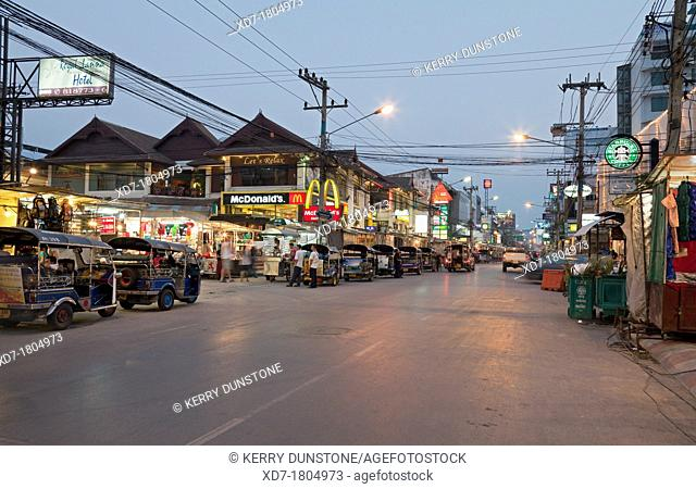Night market, Thanon Changklan, Chiang Mai, Thailand