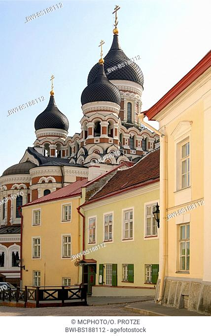 orthodox Newski Cathedral in the historical inner city of Tallinn, Estonia