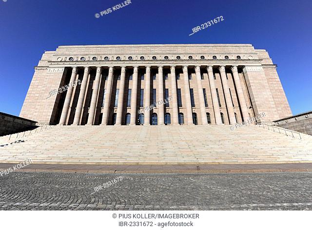 Parliament building in Helsinki, Finland, Europe