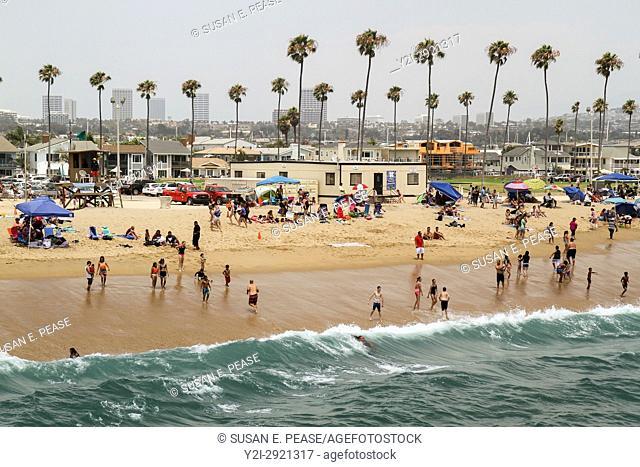 Balboa Pier Beach, Balboa Peninsula, Newport Beach, Orange County, California, United States