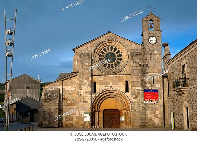 Church of the romanesque monastery of Santa Maria de Meira-12th century, Lugo province, Region of Galicia, Spain, Europe