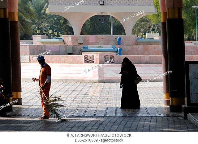 MUSCAT, OMAN Al Qurum Gardens. Immaculately cared for and watered oasis in a dusty desert city